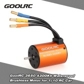 GoolRC 3650 4300KV Waterproof Brushless Motor for 1/10 RC Car HSP 94123 HuanQi 727 FS Racing 53625/53632
