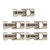 5pcs Stainless Steel 3 to 3mm Full Metal Universal Joint Cardan Couplings for RC Car and Boat D90 SCX10 RC4WD