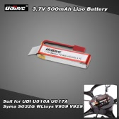 Original UDI 3.7V 500mAh Lipo Battery for UDI U818A U817A Syma S032G WLtoys V959 V929 RC Quadcopter