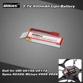 Original UDI 3.7V 500mAh Lipo Battery for UDI U818A U817A Syma S032G WLtoys V959 V929 RC Quadcopter