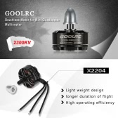 GoolRC X2204 2300KV CW Brushless Motor for QAV250 RC Quadcopter