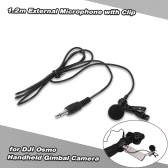 1.2m External Microphone with Clip for DJI OSMO Handheld Gimbal Camera