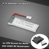 3.7V 420mAh Lipo Battery for Syma X5C X5SC Quadcopter C4001 FPV Screen