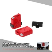 2 Pcs Fuel Tank & Mounts for 1/10 Axial SCX10 AX10 Rock Crawler RC Car