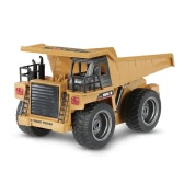 HUI NA TOYS NO.1540 2.4G 6CH Alloy Version Dump Truck Construction Engineering Vehicle Toy Gift