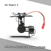 Aluminum Alloy 2 Axis Brushless Gimbal with BGC2.2 Control Panel for Gopro 3 4 DJI F450 F550 Cheerson CX-20 Aerial Photography