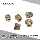 GoolRC M0.6 3.175mm 13T 14T 15T 16T 17T 0.6 Module Pinion Motor Gear for 1/8 1/10 RC Off-road Buggy Monster Truck Brushed Brushless Motor