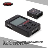 Dynam DETRUM Istone DSM 6-Axis Gyro & Stabilizer and 3-in-1 ESC Program Card Battery Voltmeter Combo for RC Airplane Aircraft