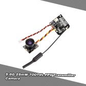 Turbowing TX-25mW 5.8G 48CH 700TVL FPV Transmitter Camera for Blade Inductrix QX90 Tiny Micro FPV Racing Quadcopter