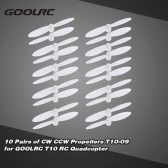 Original GoolRC 10 Pairs of CW CCW Propellers T10-009 RC Part for GoolRC T10 RC Quadcopter