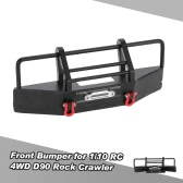 Metal Front Bumper with Trailer Buckle for 1/10 RC4WD D90 Axial SCX10 RC Rock Crawler