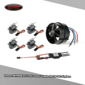 Dynam DETRUM DY-1020 64mm EDF 4100KV Motor & 4pcs 9g Servo & 40A Brushless ESC Power Combo Set for Fixed-wing of Wingspan 800mm-1400mm RC Airplane