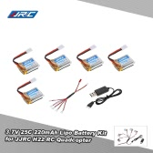 5pcs Original JJRC 3.7V 220mAh 25C Lipo Battery with 5 in 1 Charging Cable for JJRC H22 RC Quadcopter