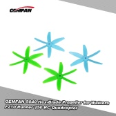 2 Pair Original GEMFAN 5040 CW/CCW 6 Blade Glass Fiber Nylon Propeller for QAV250 Walkera F210 Runner 250 260 H280 300 RC Quadcopter Racing Drone
