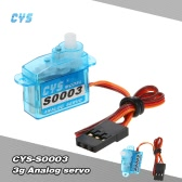 CYS-S0003 3g Light Weight Plastic Gear Micro Analog Standard Servo For RC Mini Drone Fixed-wing Aircraft