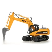 HUI NA TOYS NO.1560 2.4G 16CH RC Excavator Broken Disassemble Truck Engineering Vehicle Toys