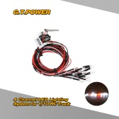 G.T.POWER 4 Channel Professional LED Lighting System for RC Car Trucks