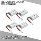 5Pcs 3.7V 240mAh 20C Lipo Battery Kit for Hubsan H107L JJRC H22 Syma X11 RC Quadcopter