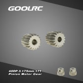 GoolRC 2Pcs 48DP 3.175mm 17T Pinion Motor Gear for RC Car Brushed Brushless Motor