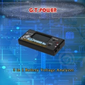 G.T.POWER 3 in 1 Battery Voltage Analyzer for RC Aircraft Helicopter Car