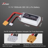JHpower 11.1V 1500mAh 30C 3S Li-Po Battery with XT60 Plug for RC Drone Airplane Car Truck