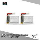 Original 2Pcs Wltoys RC Aircraft Spare Part F949 3.7V 500mAh Battery for Wltoys F949 Fixed Wing RC Aircraft