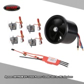 Dynam DETRUM DY-1022 70mm EDF 3200KV Motor & 4pcs 9g Servo & 60A Brushless ESC Power Combo Set for Fixed-wing of Wingspan 800mm-1400mm RC Airplane