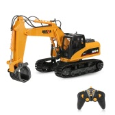 HUI NA TOYS NO.1570 2.4G 16CH RC Excavator Timber Grab Crawler Truck Engineering Vehicle Toys