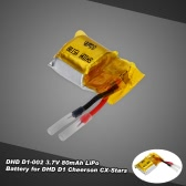 Original DHD D1-002 3.7V 80mAh LiPo Battery for DHD D1 Cheerson CX-Star RC Quadcopter