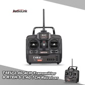 Original RadioLink T4EU 2.4G FHSS 4CH Transmitter Mode 2 & R7EH-S 7CH Receiver for RC Helicopter Airplane