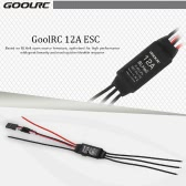 2Pcs Original GoolRC 12A Brushless BLHeli ESC Electronic Speed Controller with 5V/1A BEC for QAV250 FPV Racing Quadcopter