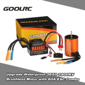 GoolRC Upgrade Waterproof 3650 3900KV Brushless Motor with 60A ESC Combo Set for 1/10 RC Car Truck