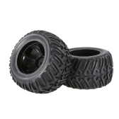 2pcs 2.67 Inch 124mm Rock Crawler Monster Truck Wheel Rim and Tire for 1/10 HSP HPI ZD Racing RC Car