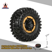 Original Austar AX-3021GD Air Pneumatic Beadlock Wheel Rim and Tire for for 1/10 RC4WD D90 Axial SCX10 Crawler Truck