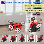 Original Create Toys 2152B 27MHz 2CH Mini RC Rolling Rotating Wheel Car Kids