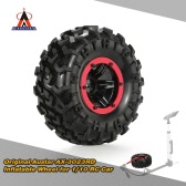 Original Austar AX-3023RD Air Pneumatic Beadlock Wheel Rim and Tire for 1/10 HSP Tamiya HPI Monster Truck