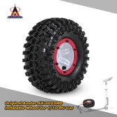 Original Austar AX-3022RD Air Pneumatic Beadlock Wheel Rim and Tire for 1/10 RC4WD D90 Axial SCX10 RC Crawler Truck