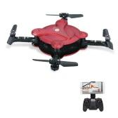 FQ777 FQ17W Mini Wifi FPV Drone Foldable RC Quadcopter - Red - RTF