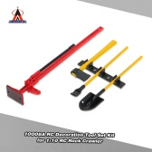 4Pcs AUSTAR 10008A RC Decoration Tools Set Kit RC Accessories for 1:10 RC Rock Crawler