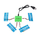 Supper Fly Charger Battery Sets 3.7V 600mAh 25C Lipo Battery 4Pcs and X4 Charger for Syma X5C X5 FPV Mini Quadcopter
