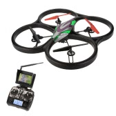 WLtoys V666 5.8G FPV 6 Axis 4CH RC Big Quadcopter UFO With 2.0MP HD Camera and Monitor RTF
