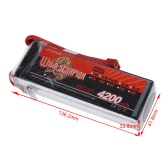 Wild Scorpion 14.8V 4200mAh 30C MAX 40C 4S T Plug Li-po Battery for RC Car Airplane Helicopter Part