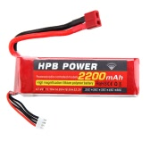 HPB 11.1V 2200mAh 25C MAX 35C 3S T Plug Li-po Battery for RC Car Airplane T-REX 450 Helicopter Part