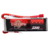 Wild Scorpion 11.1V 2200mAh 30C MAX 40C 3S T Plug Li-po Battery for RC Car Airplane T-REX450 Helicopter Part