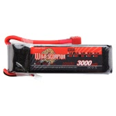 Wild Scorpion 11.1V 3000mAh 35C MAX 45C 3S T Plug Li-po Battery for RC Car Airplane T-REX 450 Helicopter Part