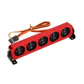 AX-509W Multi-function Ultra Bright LED Lamp for 1/10 1/8 RC HSP Traxxas TAMIYA CC01 4WD Axial SCX10 Model Car