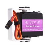HJ S3315D High Performance Full Metal 15KG Torque 180° Rotating Brushed Motor Digital Robot Servo With Straight Mounting