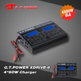 G.T.POWER XDRIVE-6 4*60W LiIo/LiPo/LiFe/NiMH/NiCD Battery Balance Charger/Discharger