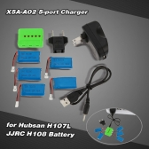 Super Fly 5-port Fast Charger Sets X5A-A02(VA01) with 3.7V 380mAh Lipo Battery for  RC Helicopter / Quadcopter Hubsan H107L H107C H107D JJRC H108 H108C H6C JJ180 JJ1000 JJ200 JJ600 JJ800