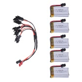 RC Part 7.4V 500mAh Lipo Battery KH8C-02(VA23) and DYX-009 Cable for RC JJRC H8C RC Quadcopter